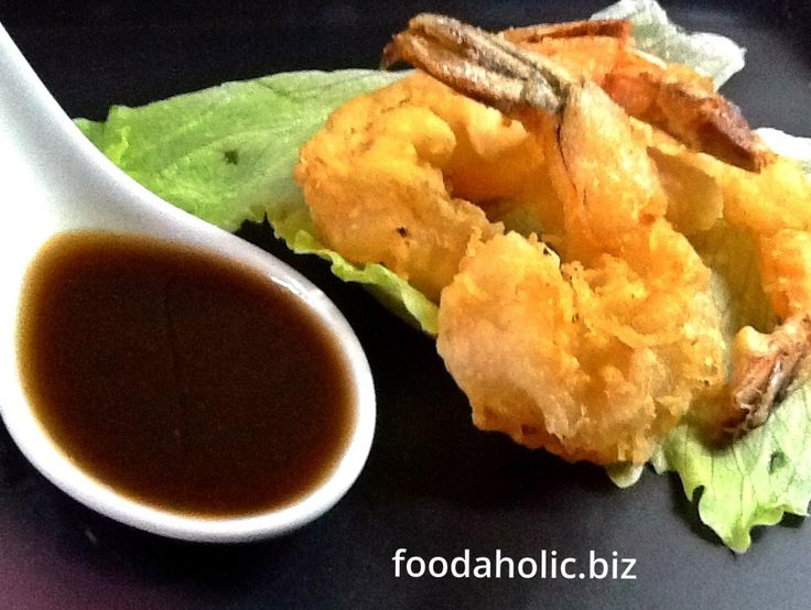 Prawns Tempura with homemade Tempura Sauce