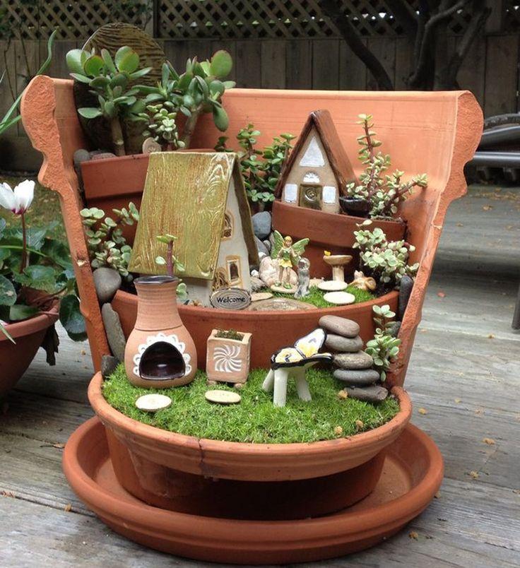 Fairy garden idea / Миниатюрный сад на окошке - Ярмарка Мастеров - ручная работа, handmade