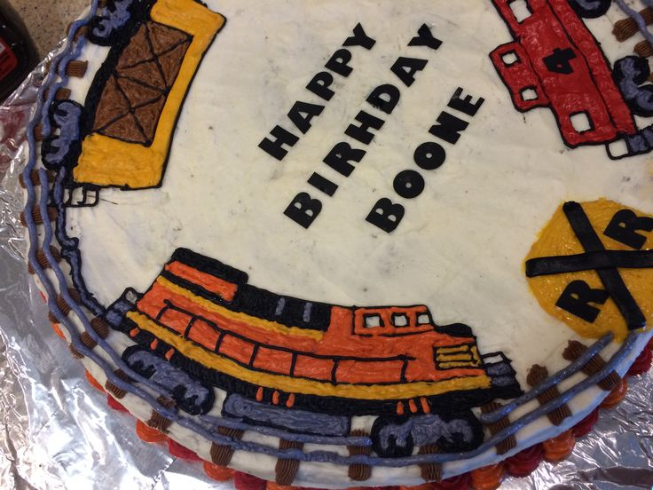 Diesel Train cake (the train theme continued for the youngest son)