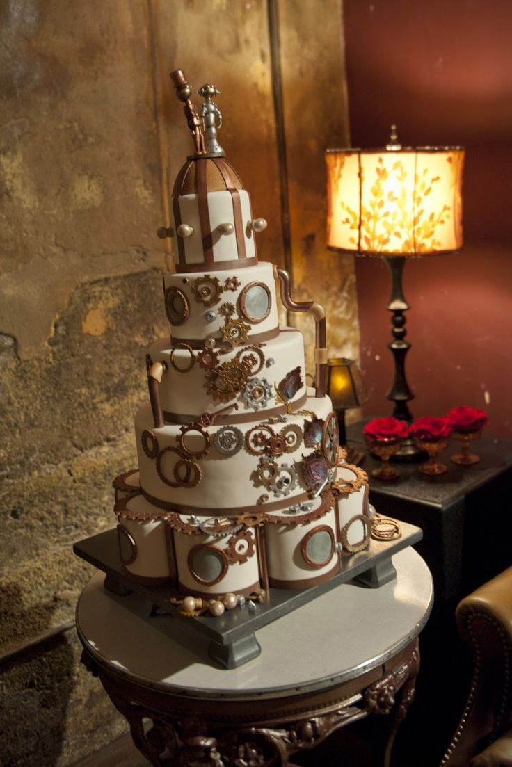 punk wedding cakes 17 best images about steampunk cakes on owl 18846