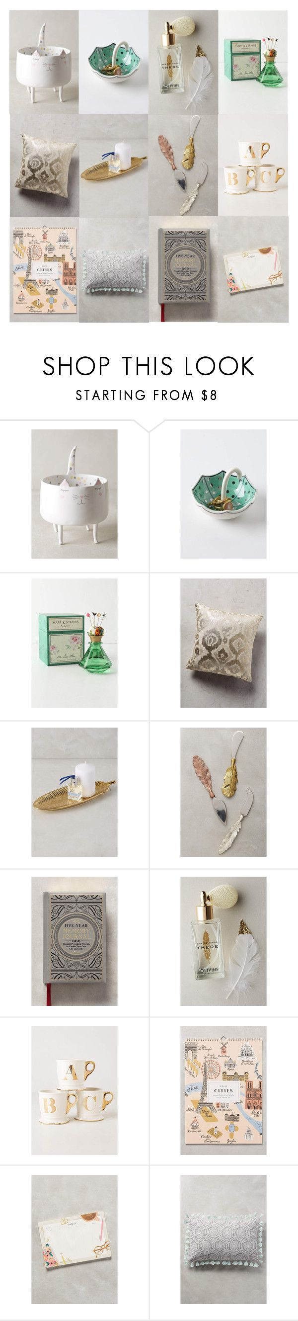 """""""Anthropology Wish List"""" by phillips-sally ❤ liked on Polyvore featuring interior, interiors, interior design, home, home decor, interior decorating, Marta Turowska, Molly Hatch, Maeve and Anthropologie"""