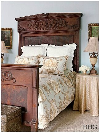 French Country Decorating Ideas! This bed is so incredibly, so, so, so BEAUTIFUL