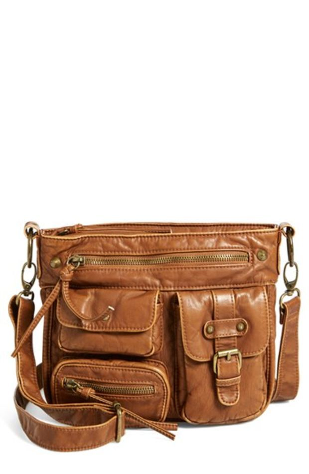 Multipocket Faux Leather Crossbody Bag Brown The Me In 2018 Pinterest Bags And