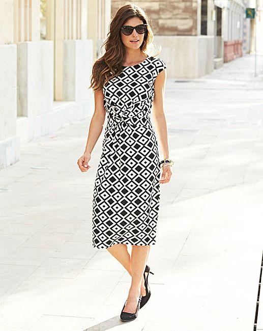 JOANNA HOPE Geo Textured Jersey Dress | Marisota