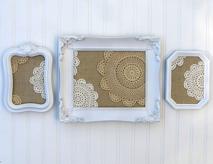 Lace Loves Burlap... Frame Collection.