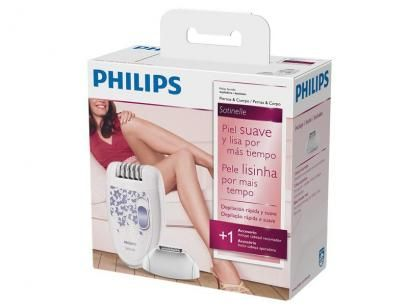 Depilador Elétrico Philips 2 Velocidades - Satinelle com as melhores condições você encontra no Magazine Jsantos. Confira!