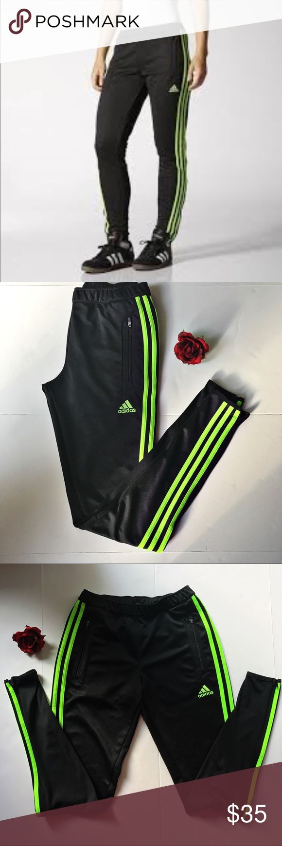 Adidas Women's Training Pants. Size XS. Warm up in comfort with style with this Adidas training pants. Constructed out of breathable Climacool materials with ventilation to keep you cool. They feature ankle zips and tapered fit. Pre-owned. Excellent condition. Adidas Pants Track Pants & Joggers