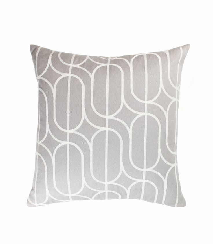 The Stables offers a beautiful collection of Australian designed cushions. The FREYA  Cushion is a modern take on a classic design. Colour: grey and marshmellow. Dimensions: 50cm x 50cm Includes feather insert. $89.95 AUD www.thestablesco....