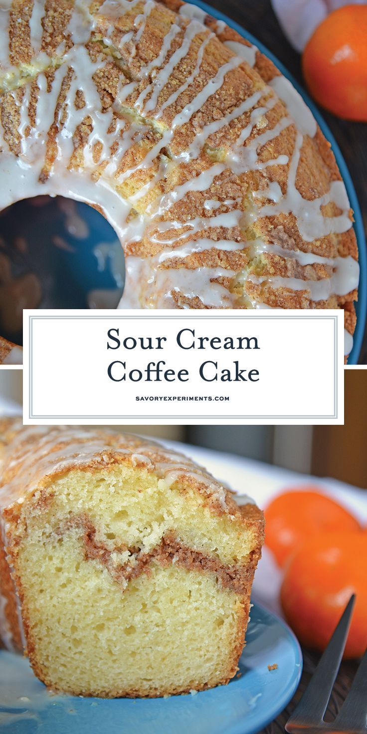 Sour Cream Coffee Cake Is An Easy Coffee Cake Recipe With A Streusel Ribbon And Crumb Topping Supe Coffee Cake Recipes Easy Coffee Cake Sour Cream Coffee Cake