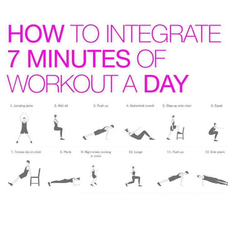 Working out for just 7 minutes a day could be all you need! Do each exercise for 30 seconds, then rest for 10 seconds before moving on to the next one. For a more intense workout, repeat twice! #WorkoutWednesday #StayAmazing http://well.blogs.nytimes.com/2013/05/09/the-scientific-7-minute-workout/?_r=0