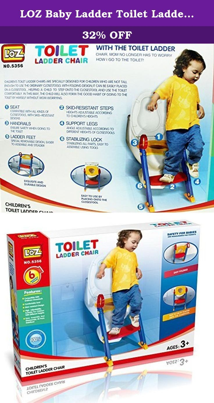 LOZ Baby Ladder Toilet Ladder Chair Toilet Trainer Potty Toilet Seat Step up toddler Toilet Training Step Stool for Girls and Boys. Baby ladder toilet ladder chair toilet trainer potty toilet seat step up toddler toilet training step stool for girls and boys safe design - anti-skid feet ensure that unlike other potty's, the joy potty trainer does not move around and stays firmly in place when in use; non-slip handrails provide support when children are seated adjustable height - ideal for...