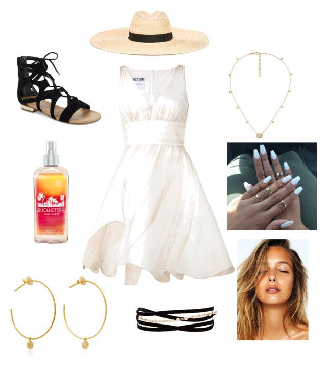 """""""Untitled #18"""" by alisha-marley on Polyvore featuring Moschino, Dsquared2, Saks Fifth Avenue, Kenneth Jay Lane, Yvonne Léon, Gucci and Hollister Co."""