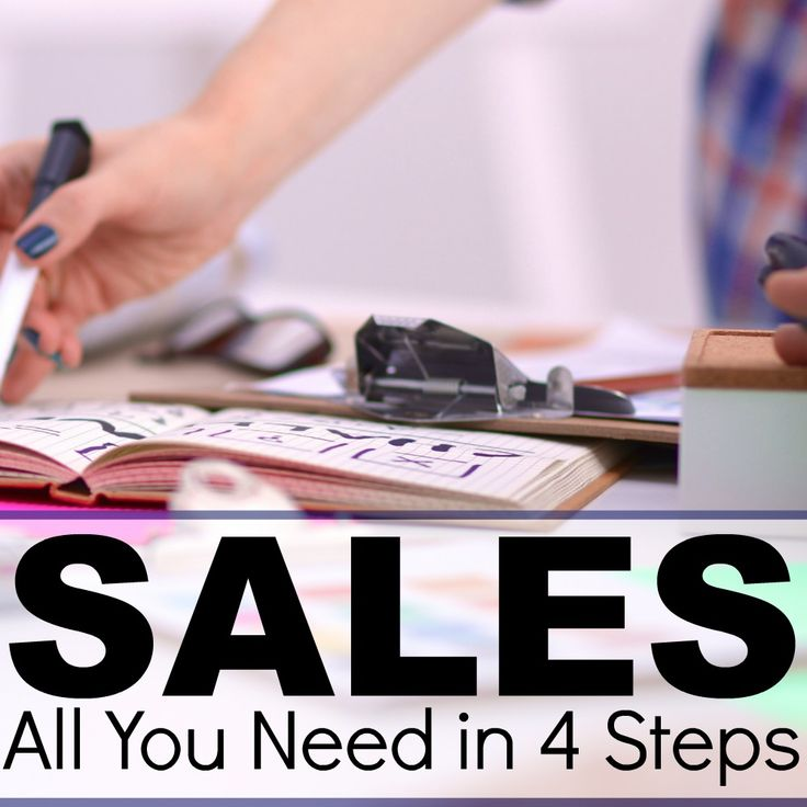 Sales: All You Need in 4 Steps