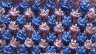mosaic stitch using 2 colours - YouTube