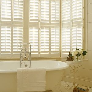 New England Plantation Shutters: Tier on Tier 64mm blades Painted
