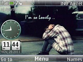 alone-theme-for-nokia-asha-302 320x240, asha 200, Asha 201, Asha 205, Asha 302, Asha 303, C3, C3 & X2-01 Theme, colors clock theme, download free, HTC 7 Mozart, mobiiles theme, nokia theme, X2-01