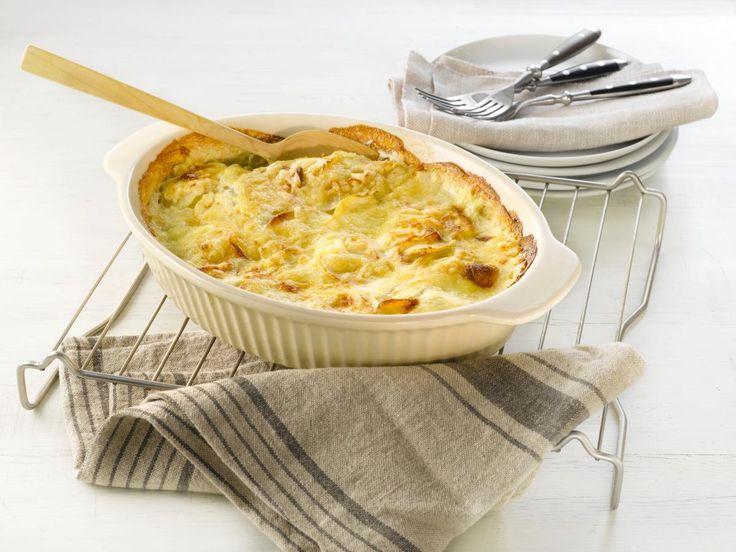 Fløtegratinerte poteter passer til både kjøtt- og fiskeretter. Til biff, søndagssteken, roastbiff eller spekmat.