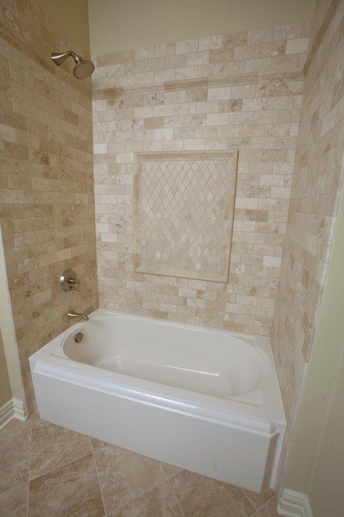 Beige Tile Tub Surround Tile Tub Surround Luxury Bathroom Master Baths Beige Bathroom