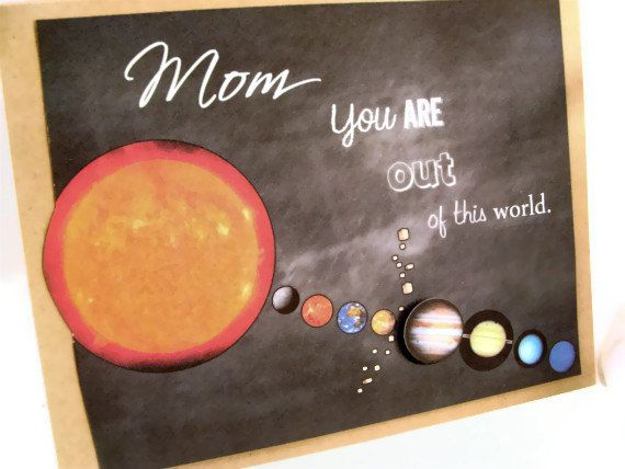 Planet Mother's Day Science Solar System Card by ShopGibberish, $5.00