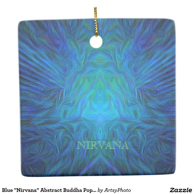 "Blue ""Nirvana"" Abstract Buddha Pop Art Ceramic Ornament"