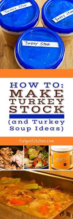 One of the best things about the day after Thanksgiving is making turkey stock and turning it into turkey soup, and this post has all my tips for How to Make Turkey Stock, and Turkey Soup Ideas! found on KalynsKitchen.com