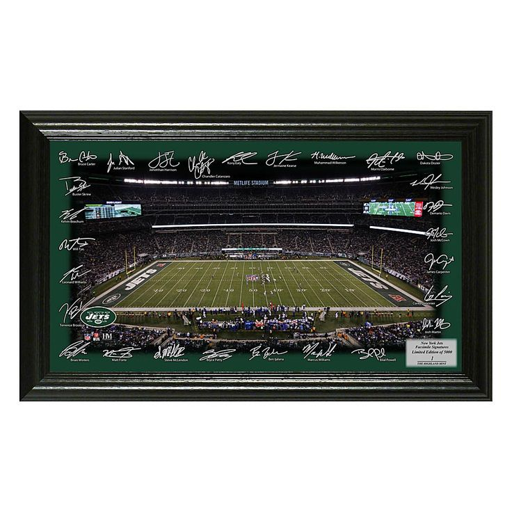 Officially Licensed NFL 2017 Signature Gridiron Print - Jets