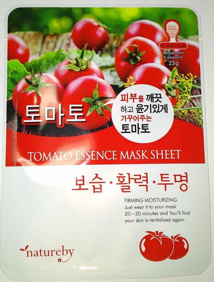 Natureby Tomato Essence Mask Sheet Pack K-Beauty 1pcs #Natureby