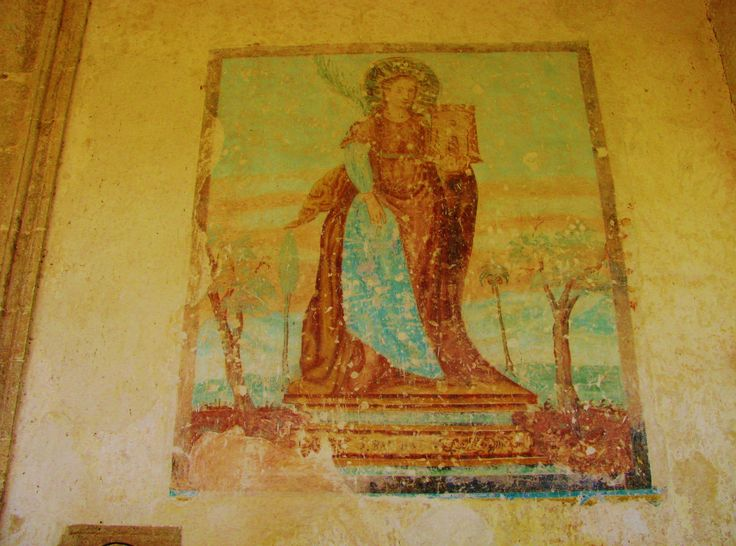 Fresco from the 16th century of St. Barbara