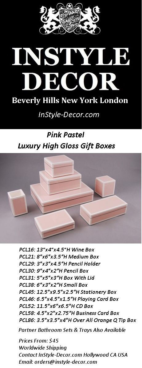 """""""Pink Gift Boxes"""" """"Pink Gift Box"""" Ideas By InStyle-Decor.com Hollywood, for more beautiful gift box inspirations use our site search box entering term """"gift"""" gift boxes, gift boxes wholesale, gift box, gift box ideas, gift box design,  gift box ideas for him, gift box ideas for her, custom gift boxes,"""