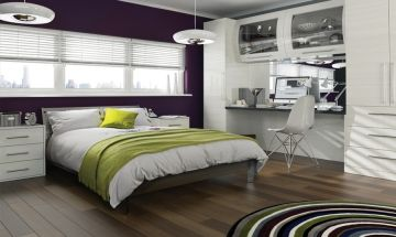 High Gloss White Bedroom Doors - By BA Components