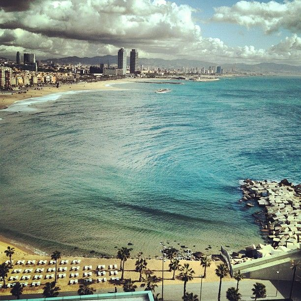 """This view is crazy"" from Skrillex. whatever the weather is, it is worthy to get around Barcelona beaches ;)"