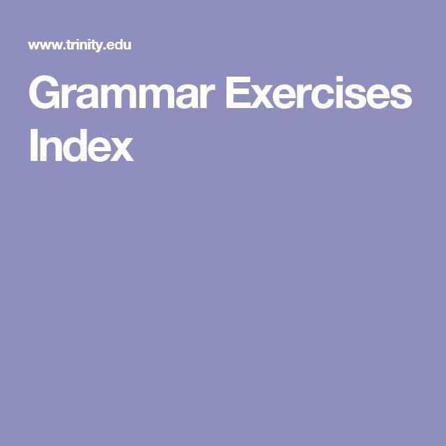 Grammar Exercises Index