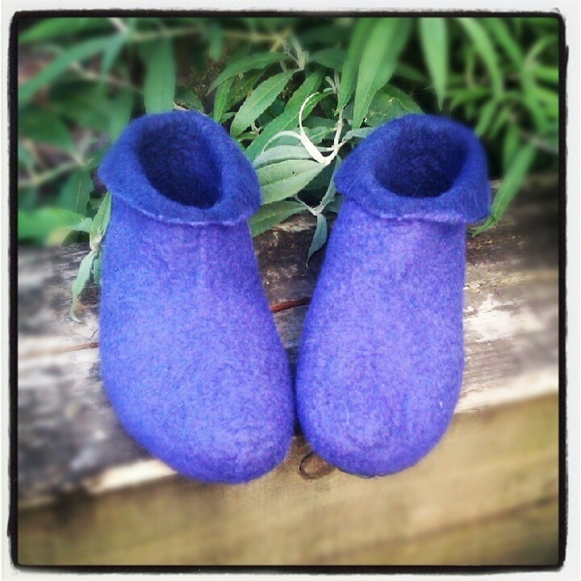 Hand Felted Slippers Men's Pixie Boots. Merlin. Size 10 £43.00