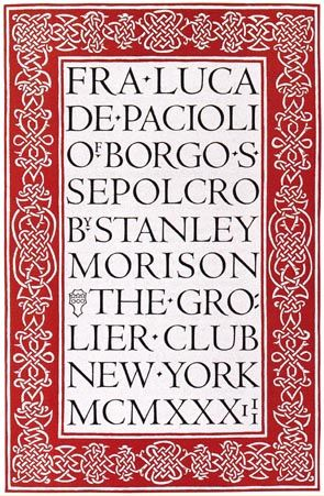«La tipografía de la imprenta de la Universidad de Cambridge» por Bruce Rogers