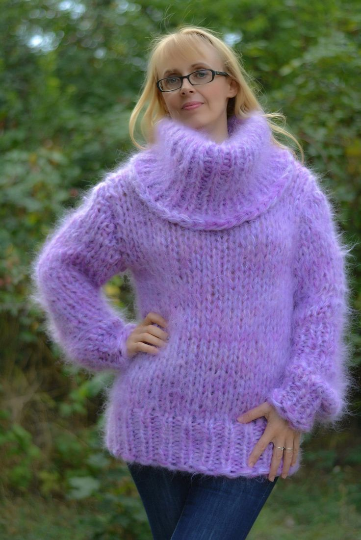 Chunky mohair pullover from Dukyana