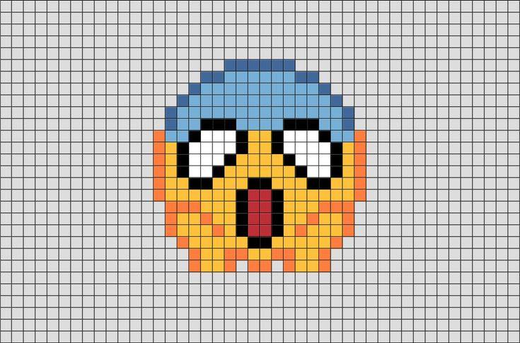 Emoji Pixel Art from BrikBook.com #Emoji #Emoticon #Message #Smiley #pixel #pixelart #8bit Shop more designs at http://www.brikbook.com