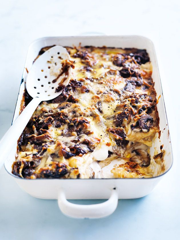 cheat's mushroom lasagne from donna hay