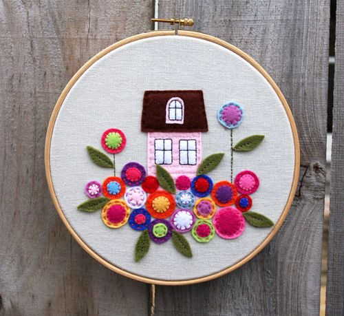 Adorable sewing project. Home sweet home.
