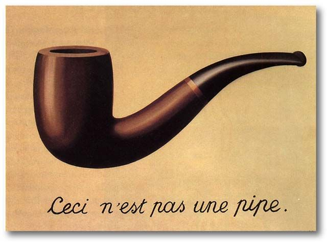 rene magritte / the treachery of images / 1928-9 / oil on canvas - Repinned by UXSherlock.