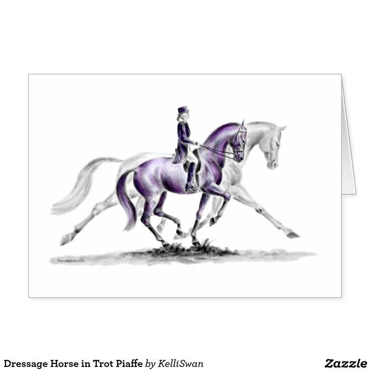 Horse dressage silhouette