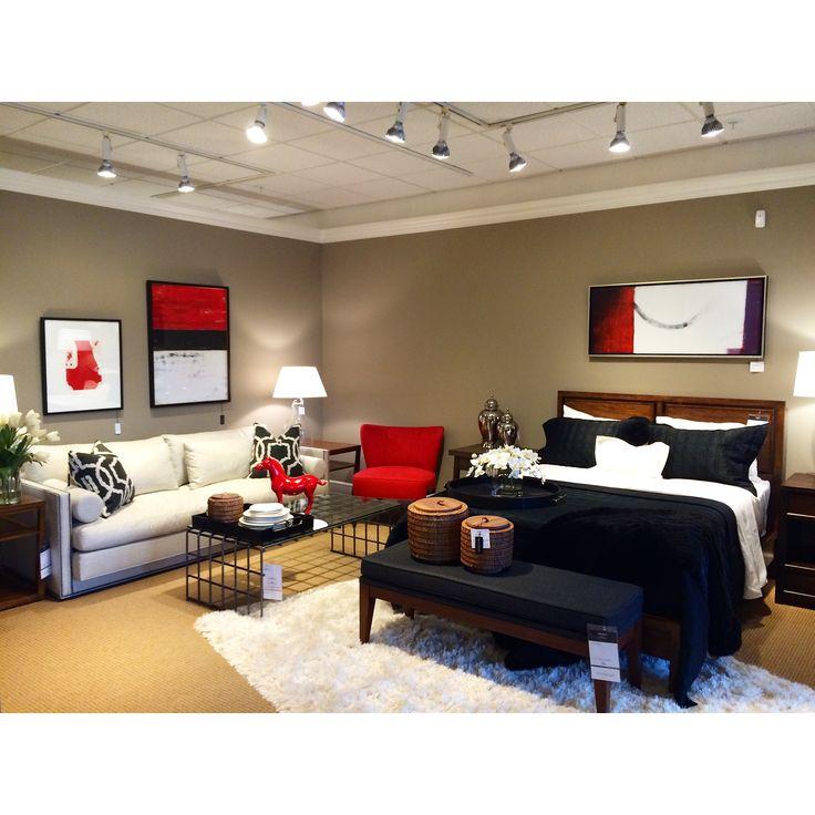 Pic On A red inspired Modern room design EthanAllen EthanAllenBellevue ModernDesign