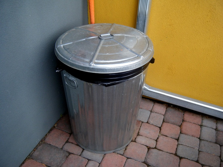 Aluminum Trash Cans : Metal trash cans with no wheels s childhood