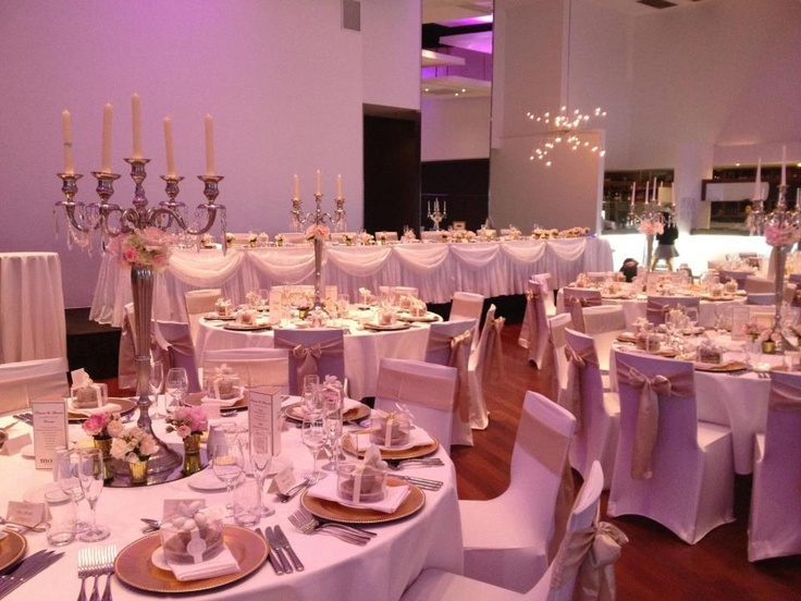 Bridal table scalloping always makes the room!