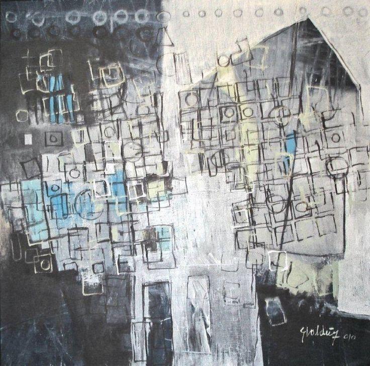 El bien y la ausencia 90 cm x 90 cm Acrílico-Lienzo 2010 1.000€  #arte #art #artecubano #cubanart #galerías #galleries #pintura #painting #EliseoValdes