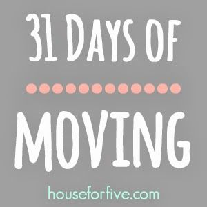 """House For Five: """"31 Days Of Moving: Day 25: The Pre-Move Out Checklist With Printable"""