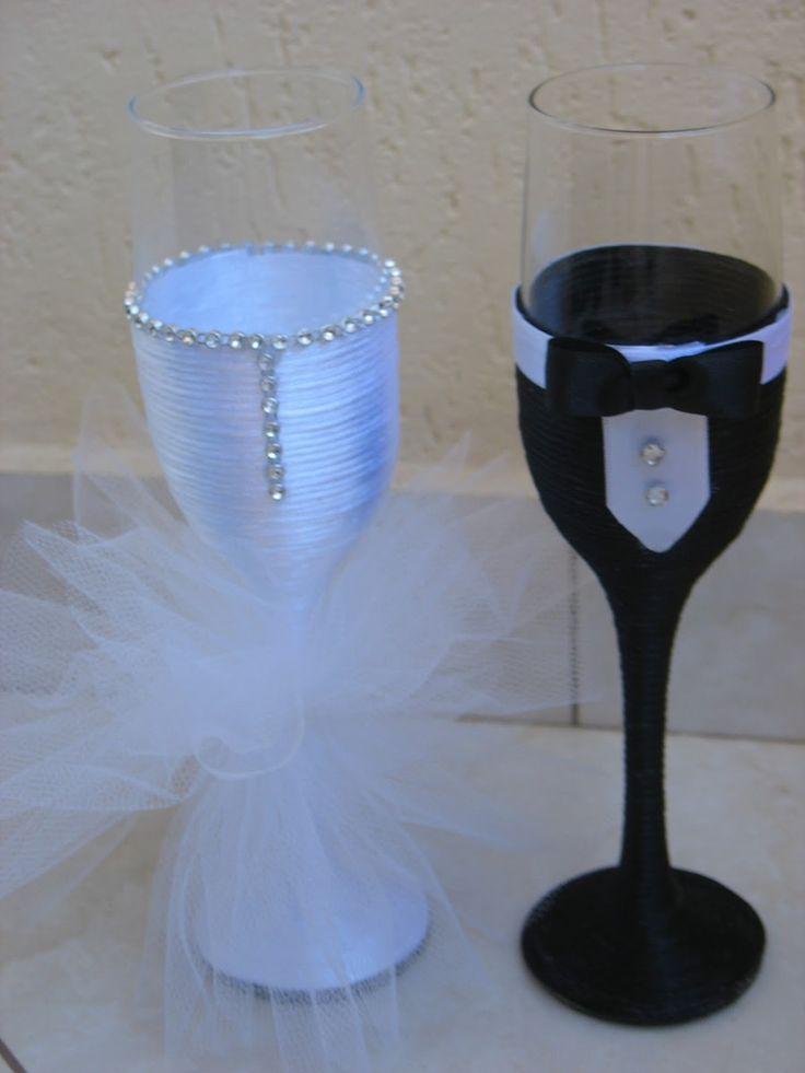 Taça para o Brinde dos Noivos! <br> <br>Deixe este momento ainda mais especial! <br>Taças feito sob encomenda, acabamento impecável, taças da melhor qualidade!