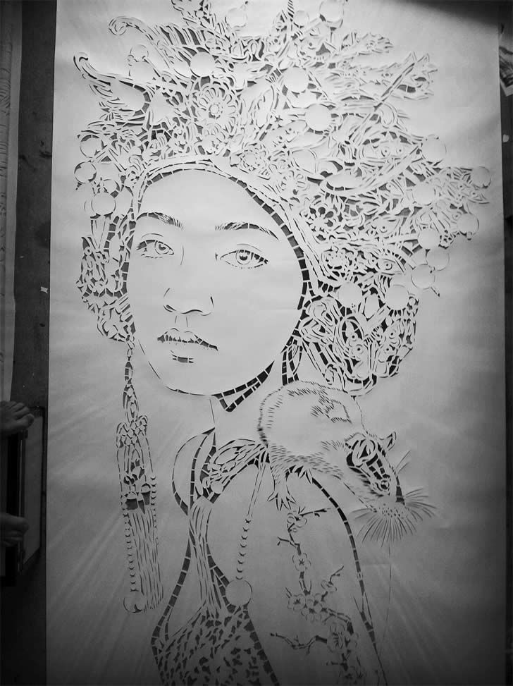 That had to of  took some serious time to cut this stencil..
