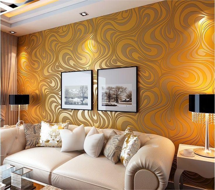 0.7 m * 8.4 m behang rollen Papel de parede Strooi goud muurschilderingen damast behang roll moderne stereo 3D muurschildering muur papierrol in                 ph van wallpapers op AliExpress.com | Alibaba Groep