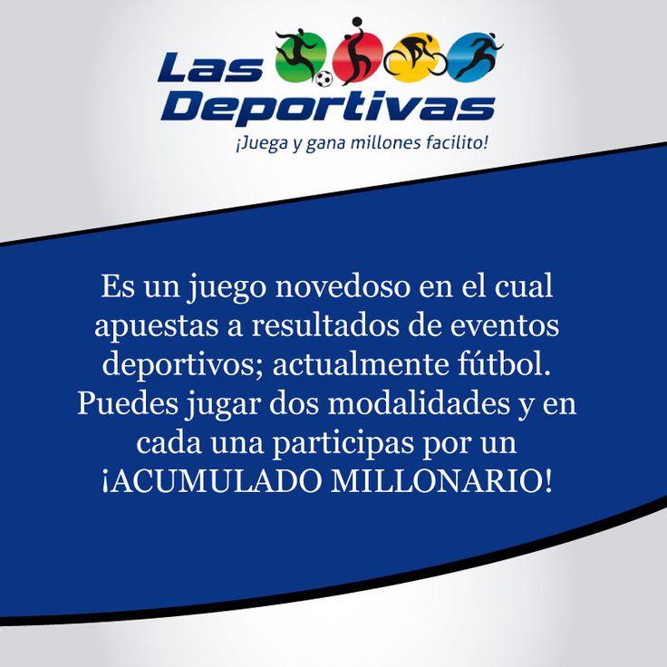 Selecciona una de las modalidades #local #empate #visitante y entrega el pronóstico a la asesora en el punto de ventas. #lasdeportivas #juegoresponsable #energiapositiva  http://www.lasdeportivas.com.co/