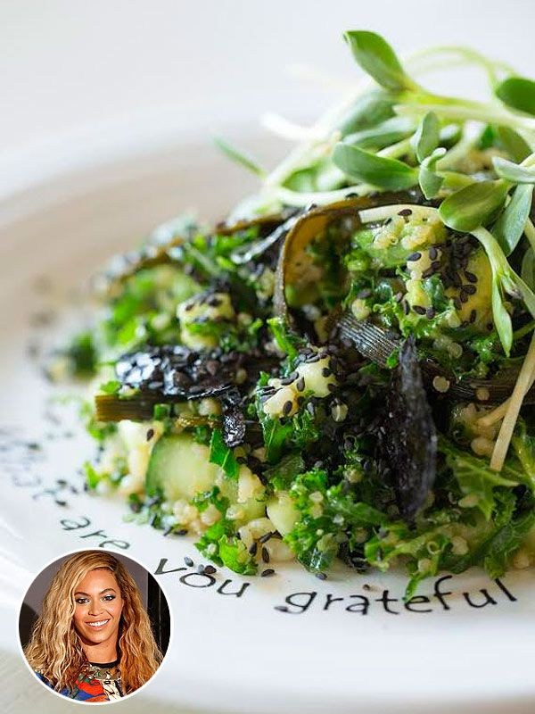 Beyoncé ordered this kale salad at Cafe Gratitude in L.A.—get the recipe!